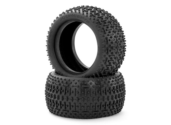 JCONCEPTS Pelle d'oca 1 / 10th Buggy Ruote post - Verde (Super Soft) Compound