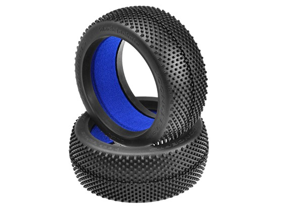 JCONCEPTS Nero Giacche 1 / 8th Buggy Tires - Blu (Soft) Compound