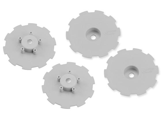 JCONCEPTS Hazard SC10 / SC10 4x4 Wheel piatto - Bianco - 4pc