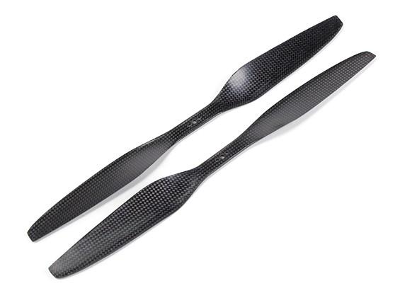 Multirotor in fibra di carbonio T-Style dell'elica 15x5.5 Black (CW / CCW) (2 pezzi)