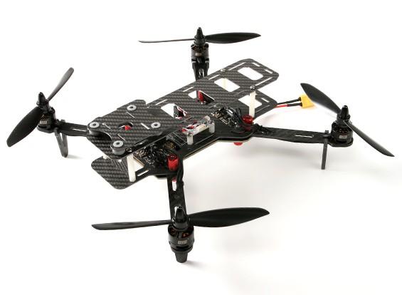 DYS 320 fibra del carbonio pieghevole Quadcopter con il caso di bagagli (PNF)