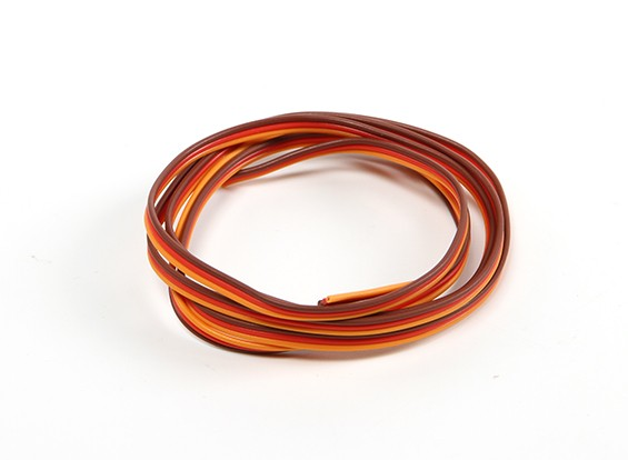 26AWG Servo filo 1mtr (rosso / marrone / arancio)