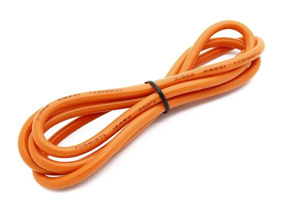 Turnigy alta qualità 12AWG silicone Filo 1m (arancione)