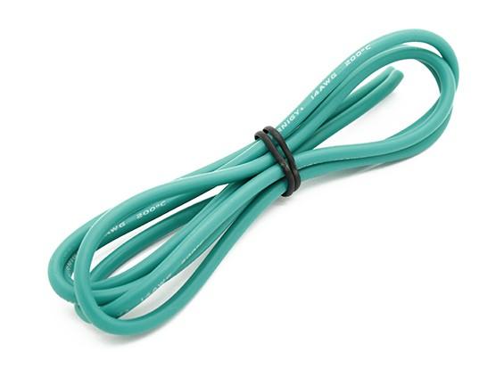 Turnigy alta qualità 14AWG silicone Filo 1m (verde)