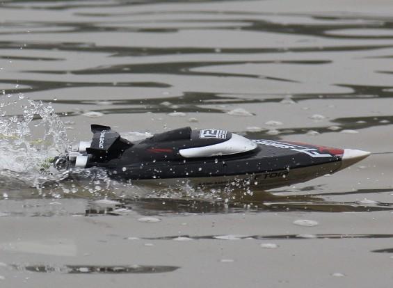 FT012 Brushless V-Hull barca di corsa con funzionalità autoraddrizzanti (UK Plug)