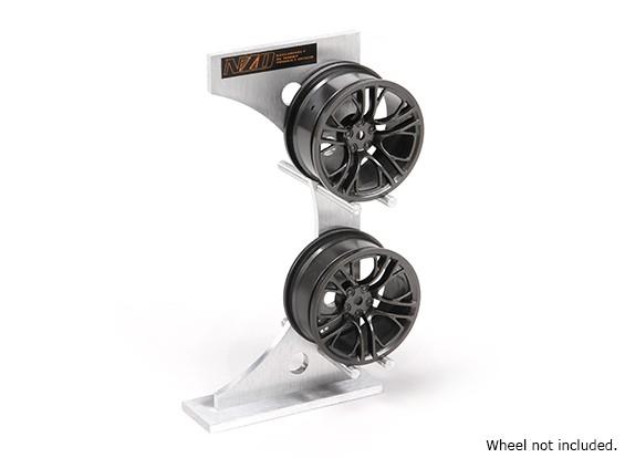 NZO alluminio Rim Rack - Argento