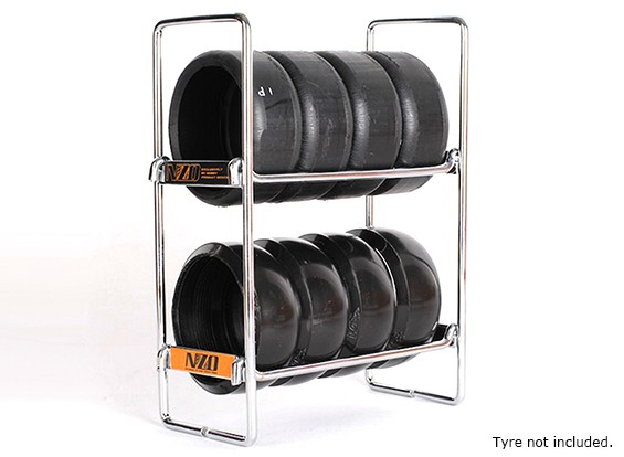NZO 1/10 Scala Tire Rack - Argento