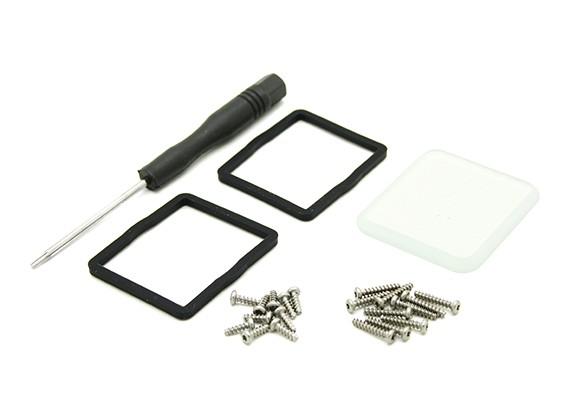 Kit di sostituzione di copertura della lente di vetro impermeabile per GoPro HD Hero 3