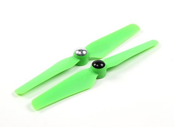 5 x 3.2 Autofissante Elica per Multi-rotore CW e CCW di rotazione (1 coppia) Verde