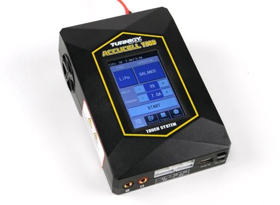 Caricabatteria schermo Turnigy T100 multifunzione Touch (spina degli Stati Uniti)