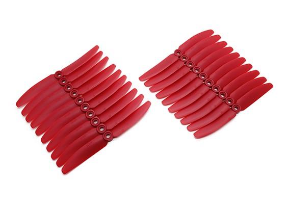 Gemfan 5030 Pack di massa Multirotor ABS eliche (10 coppie) CW CCW (Red)