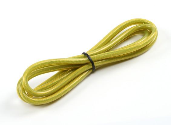 Turnigy Pure-silicone filo 12AWG 1m (giallo traslucido)