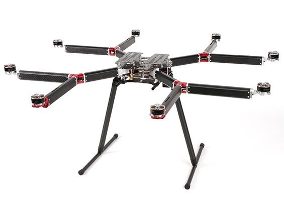 DYS D800 V-8 Professional multi-rotore fotografia aerea e piattaforma di sollevamento pesante (PNF)