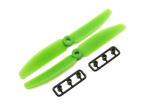 Gemfan 5040 GRP / nylon Eliche CW / CCW Set (verde) 5 x 4