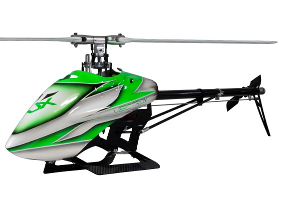 Corredo dell'elicottero RJX Vectron 520 Flybarless elettrico 3D (verde)