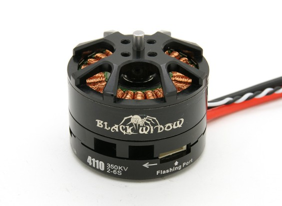 Black Widow 4110-350Kv con built-in ESC CW / CCW