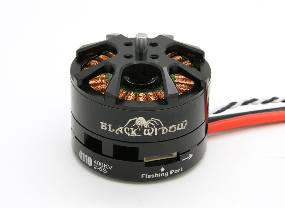 Black Widow 4110-400Kv con built-in ESC CW / CCW