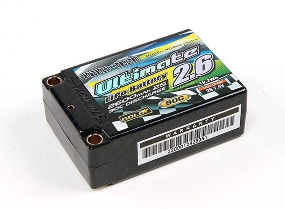 Turnigy nano-tech ultima 2600mAh 2S2P 90C Hardcase Lipo Super Shorty Pack (ROAR e BRCA approvato)