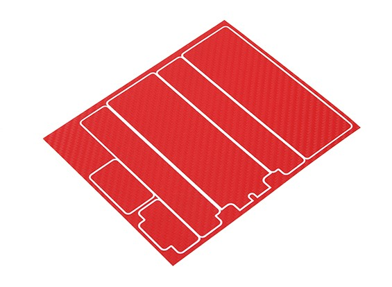 Pannelli decorativi Trackstar copertura di batteria per modello standard 2S Hardcase Red Carbon (1 pc)