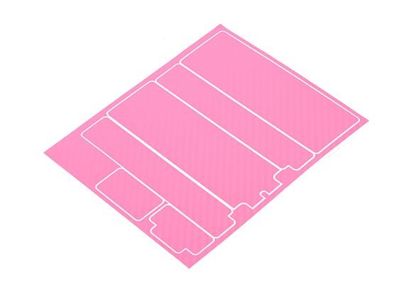 Pannelli decorativi Trackstar copertura di batteria per modello standard 2S Hardcase rosa di carbonio (1 pc)