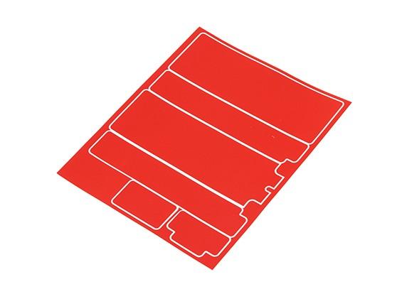 Pannelli decorativi Trackstar copertura di batteria per standard 2S Hardcase rosso metallico (1 pc)
