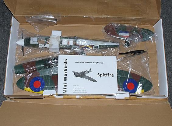 SCRATCH / DENT Spitfire Funfighter - EPO 665 millimetri (P & P) incl. High-Spec (3s ~ 4s) ESC