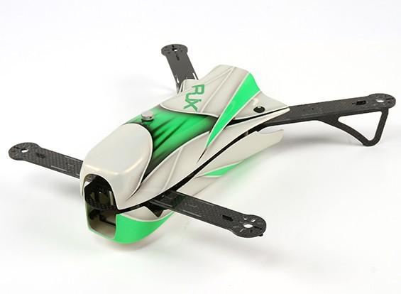 RJX CAOS 330 FPV corsa Quadcopter della struttura del velivolo solo (verde)