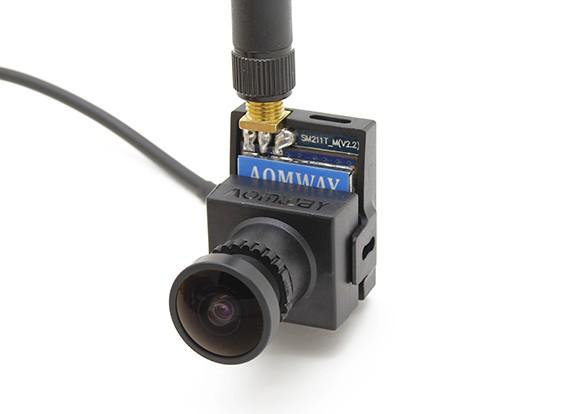 Camera AOMWAY 700TVL CMOS HD (Pal Version) più 5.8G 200mW trasmettitore