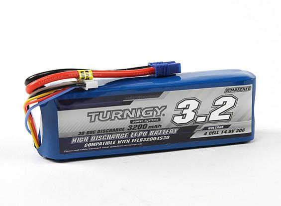 Turnigy 3200mAh 4S 30C LiPoly pacchetto w / CE3 (E-Flite EFLB32004S30 Compatible)