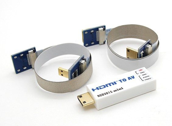 RCD 3015 Mini HDMI a AV Port Converter
