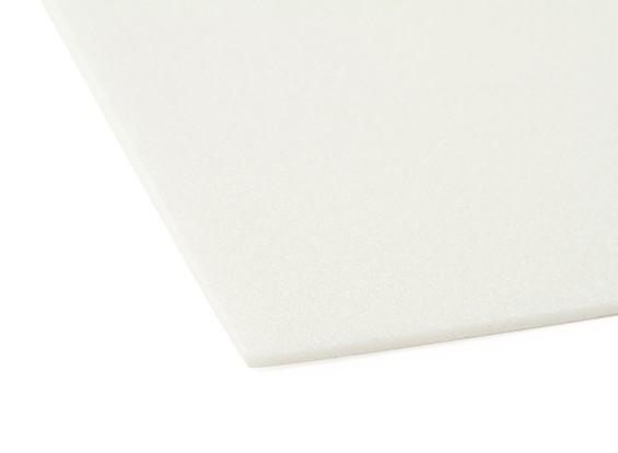 Aero-modellazione bordo della gomma piuma 3 x 500 millimetri x 700 millimetri (bianco)