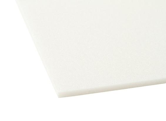 Aero-modellazione bordo della gomma piuma da 5 x 500 millimetri x 1000 millimetri (bianco)