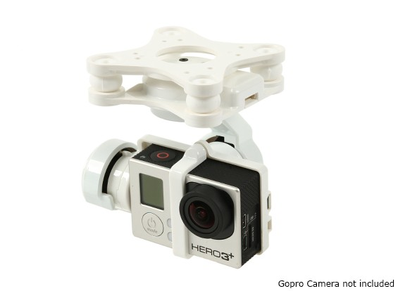 GH3-3D 3-AXIS Camera Gimbal (bianco)