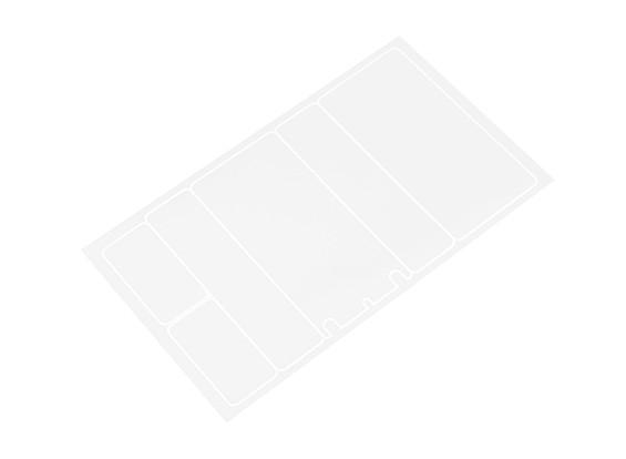 Pannelli decorativi Trackstar copertura di batteria per 2S Shorty Flat Pack Trasparenza Pattern (1 pc)