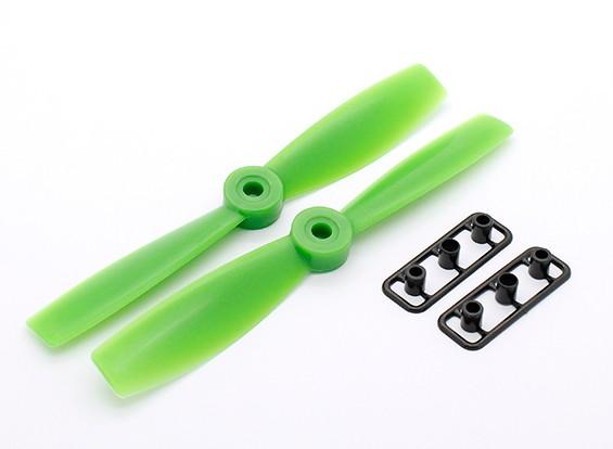 GemFan Bull Nose 5046 GRP / nylon Eliche CW / CCW Set Verde (1 coppia)