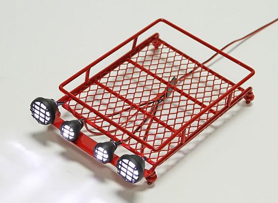 1/10 portapacchi (rosso) con rotonde faretti