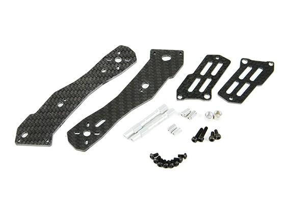 Tarocchi metà Carbon braccio posteriore da 2,5 mm per TL250H metà in fibra di carbonio multi-rotori