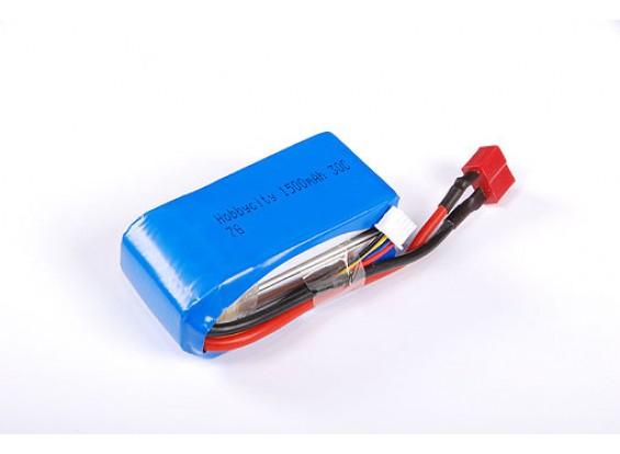 HobbyCity 1500 3S1P 20-30 ° C Lipoly pacchetto w / Conn