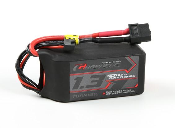 Turnigy grafene 1300mAh 4S 45C Lipo del pacchetto w / XT60
