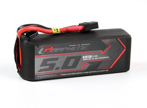 Turnigy grafene 5000mAh 4S 45C Lipo del pacchetto w / XT90