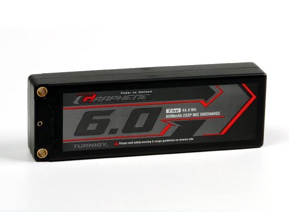 Turnigy Graphene 6000mAh 2S2P 90C Hardcase Lipo Pack (ROAR APPROVAL)