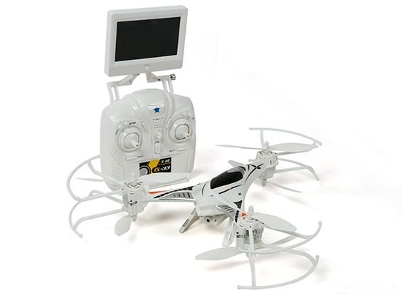 CX-33 Tricopter w / 5.8Ghz Tx, Monitor, videocamera HD, la modalità 2.4Ghz 1 / Modalità 2 commutabile Tx (RTF)