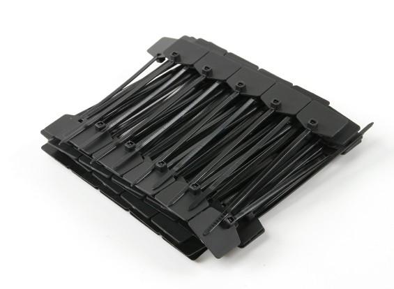 Fascette 120 millimetri x 3 mm Nero con Marker Tag (100pcs)