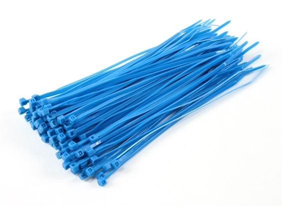 Fascette 200mm x 4mm Blu (100pcs)