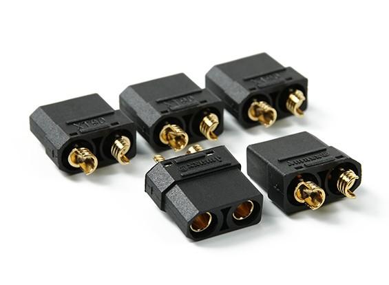 Nylon XT90 connettori femmina (5 pc / sacchetto) Nero