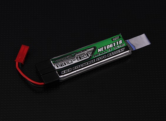 Turnigy nano-tech 600mah 1S 35 ~ 70C Lipo (Nine Eagles Solo Pro 328, eflite MQX, 120SR)