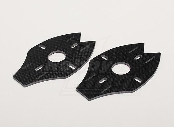 Dipartimento Funzione Pubblica Y650 Scorpion fibra di vetro posteriore Motor Mount (2pcs / bag)