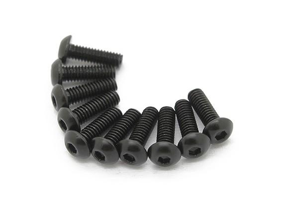 Metallo rotonda Machine Head Vite Esagonale M3x6-10pcs / set