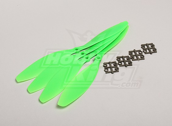 GWS Stile Slowfly dell'elica 11x4.7 Verde (CW) (4 pezzi)