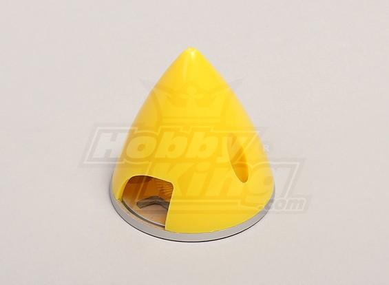 Nylon Spinner con lega piastra posteriore 45 millimetri giallo